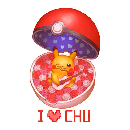 I Love Chu Pikachu Pokemon T-Shirt