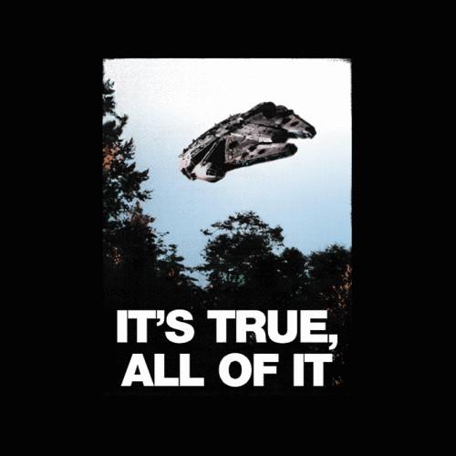 It's True I Want To Believe Star Wars X-Files T-Shirt
