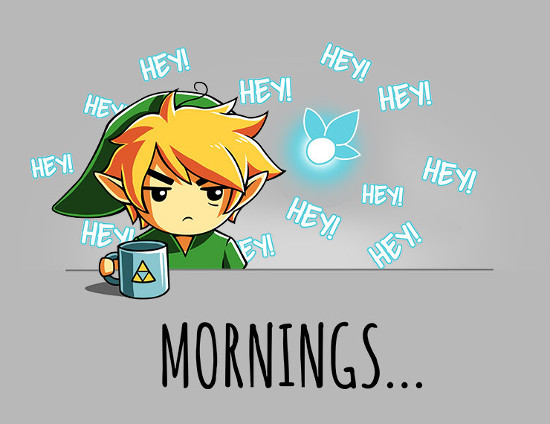 The Legend of Zelda Mornings Navi Hey! T-Shirt