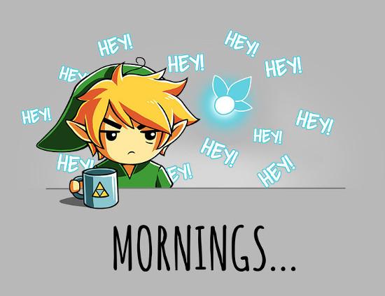 The Legend of Zelda Mornings Navi Hey! T-Shirt