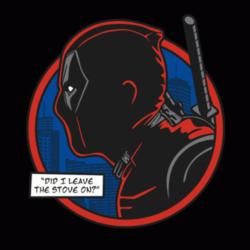 Deadpool Did I Leave the Stove On? Dick Tracy T-Shirt