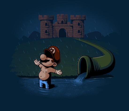 Super Mario Bros Shawshank Redemption T-Shirt