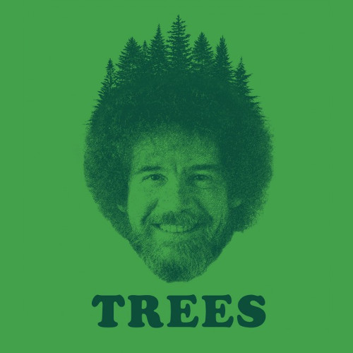 Trees Bob Ross Portrait T-Shirt