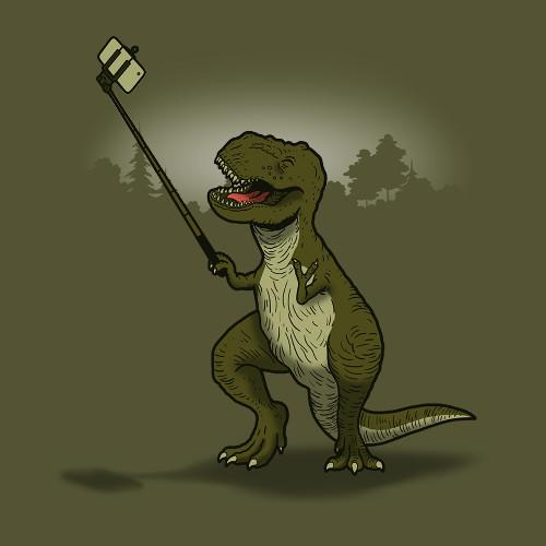 T-Rex Selfie Stick T-Shirt