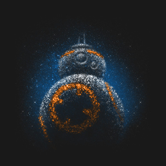 BB-8 Star System Galaxy Droid T-Shirt