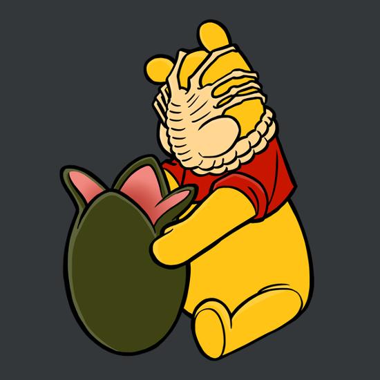 Winnie the Pooh Facehugger Alien Honey T-Shirt