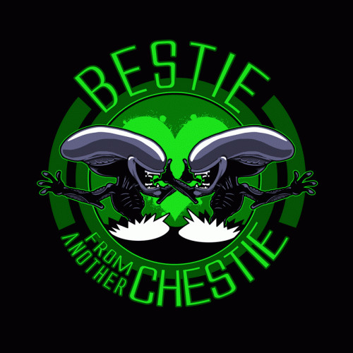 Bestie from Another Chestie Xenomorph Alien T-Shirt