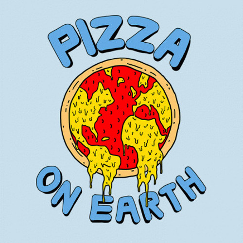 Pizza on Earth Peace T-Shirt