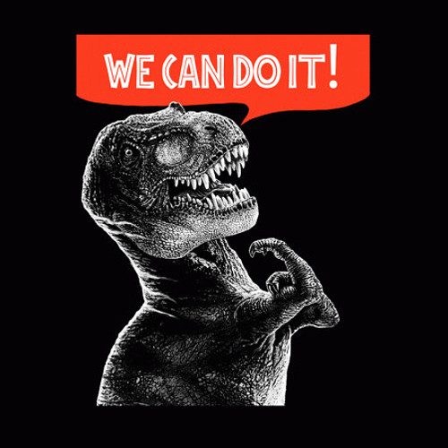 T-Rex We Can Do It T-Shirt