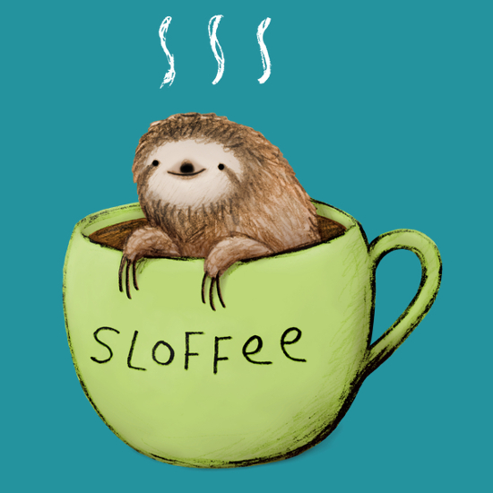 Sloffee Sloth Coffee T-Shirt