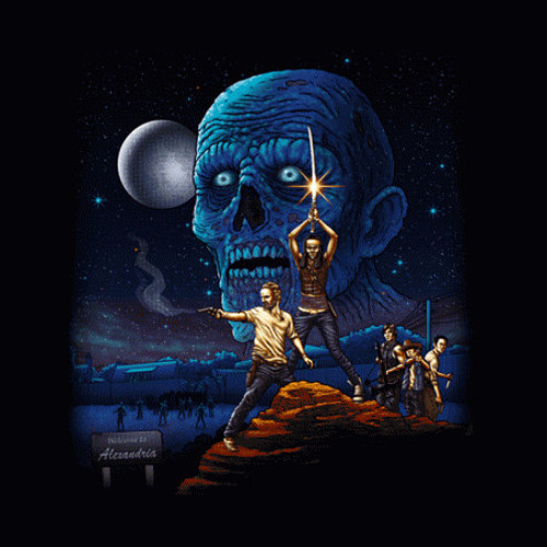 Walking Dead Star Wars Poster T-Shirt