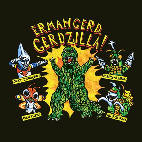 Gerdzilla Godzilla Gersberms T-Shirt
