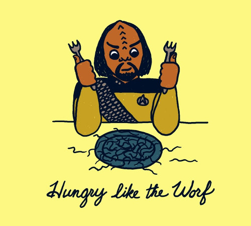 Hungry Like The Worf Star Trek Klingon T-Shirt