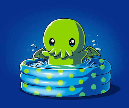 Call of the Kiddie Pool Cthulhu T-Shirt