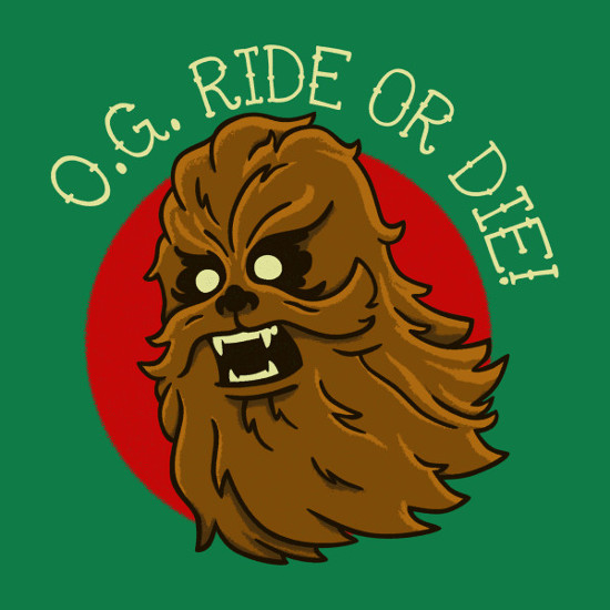 OG Ride or Die Chewbacca Star Wars T-Shirt