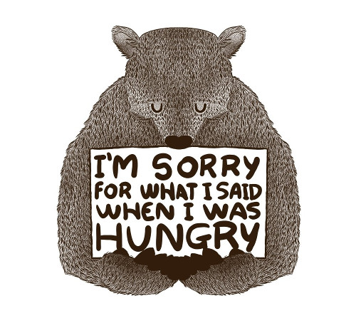 I'm Sorry For What I Said When I Was Hungry Bear T-Shirt