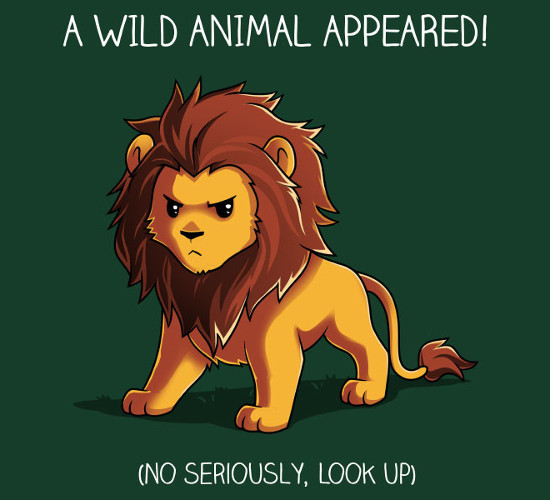 A Wild Animal Appeared! Pokemon Lion T-Shirt