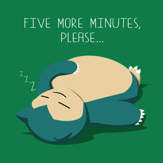 Five More Minutes Please Snorlax Pokemon T-Shirt
