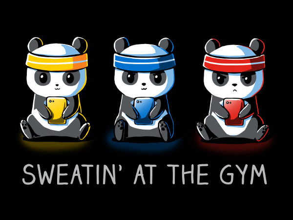 Sweatin' at the Gym Pokemon Go Panda T-Shirt