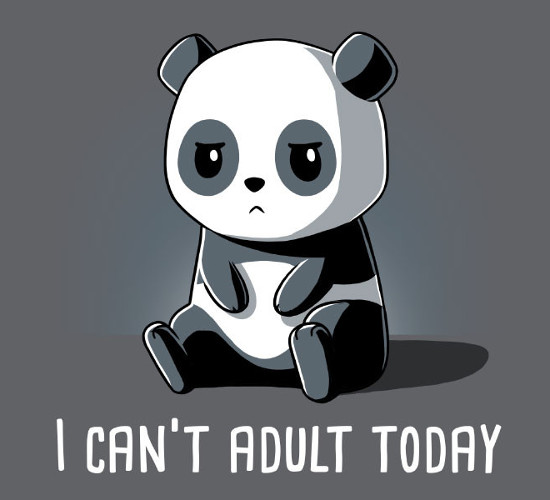 I Can't Adult Today Panda T-Shirt