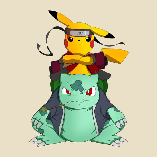 Pikuto Pokemon Naruto Pikachu T-Shirt