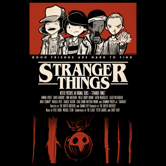 Stranger Things Friends Poster T-Shirt