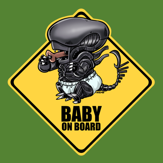 Baby on Board Xenomorph Alien T-Shirt