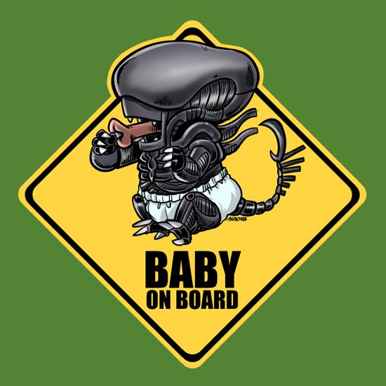Baby on Board Xenomorph Alien T-Shirt
