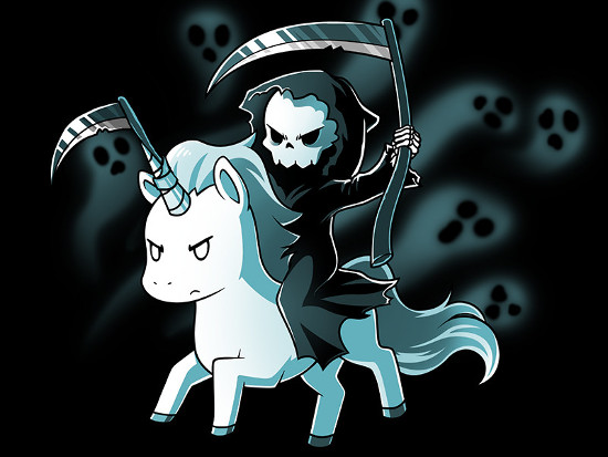 The Unicorn of Death Horn Reaper T-Shirt