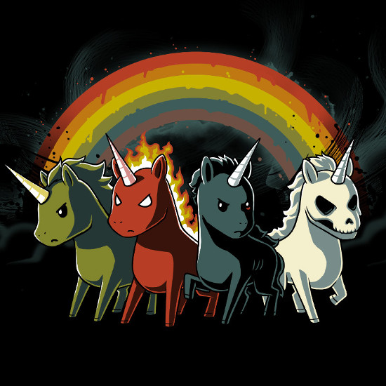 Four Unicorns of the Apocalypse T-Shirt