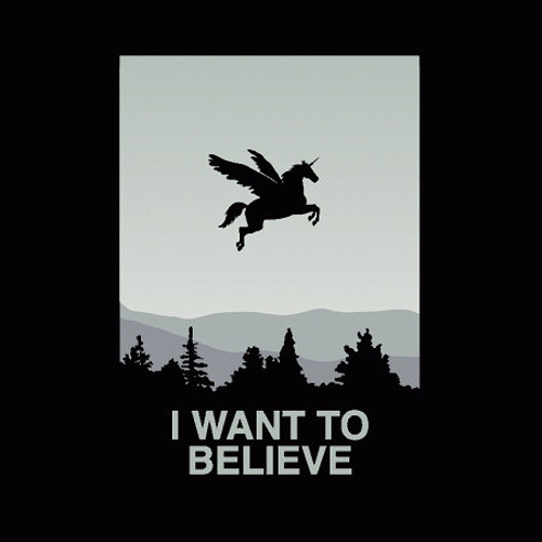 I Want To Believe Unicorn T-Shirt