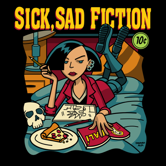 Sick Sad World Pulp Fiction Daria T-Shirt
