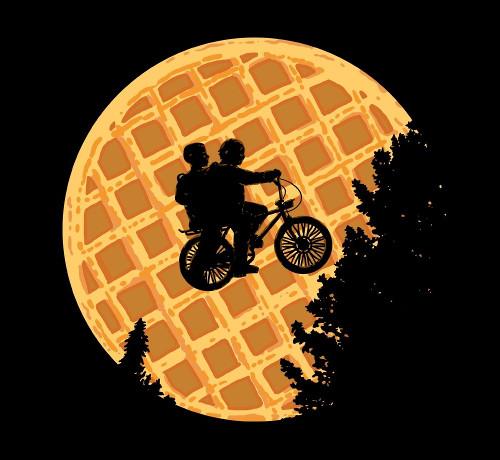 Stranger Things ET Waffle Moon T-Shirt