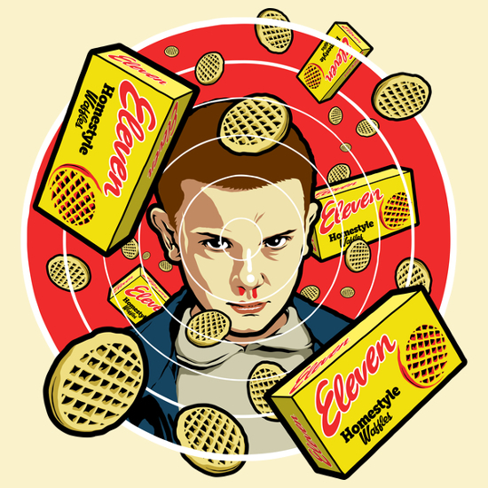 Stranger Things Eleven Waffles T-Shirt