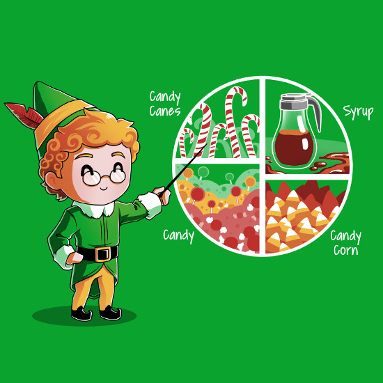 Buddy the Elf Four Main Food Groups T-Shirt