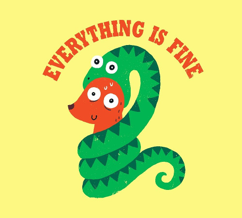 Everything is Fine Snake and Dog T-Shirt