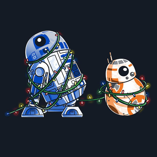 Happy Holidroids R2-D2 & BB-8 Star Wars Christmas T-Shirt