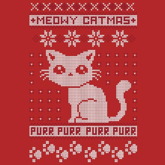 Meowy Catmas Cat Christmas Sweater Shirt