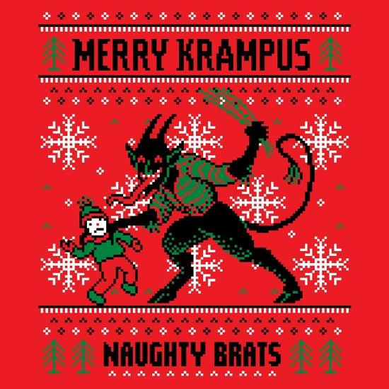 Merry Krampus Naughty Brats Ugly Sweater Shirt