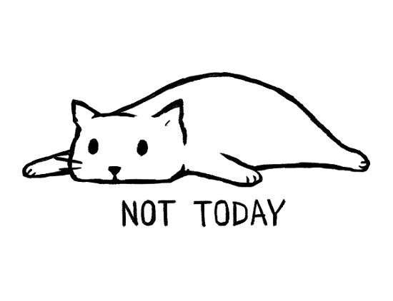 Not Today Cat T-Shirt