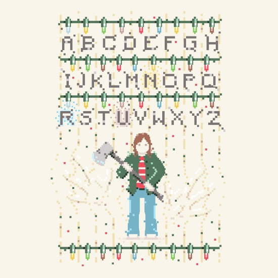 Stranger Things Christmas Lights Ugly Sweater T-Shirt