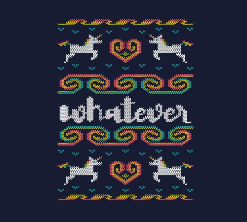 Whatever Christmas Unicorn Sweater T-Shirt