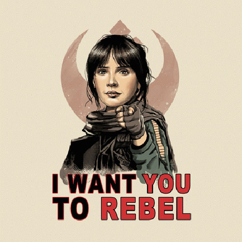 I Want You to Rebel Star Wars T-Shirt