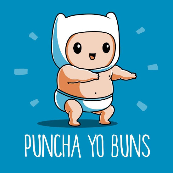 Puncha Yo Buns Baby Finn Adventure Time T-Shirt