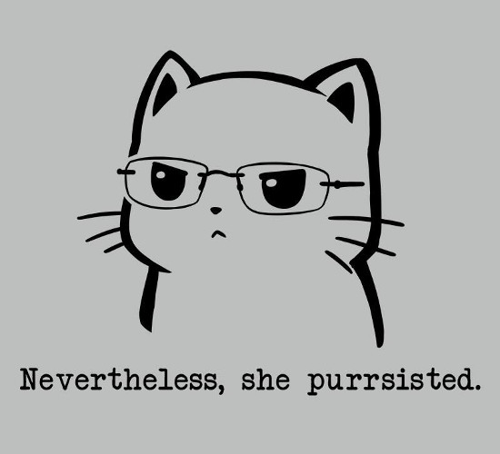 Nevertheless, She Persisted Cat T-Shirt