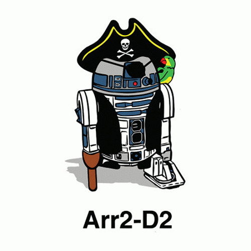 Arr2-D2 R2-D2 Pirate T-Shirt