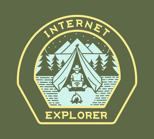 Internet Explorer Wireless Camping T-Shirt