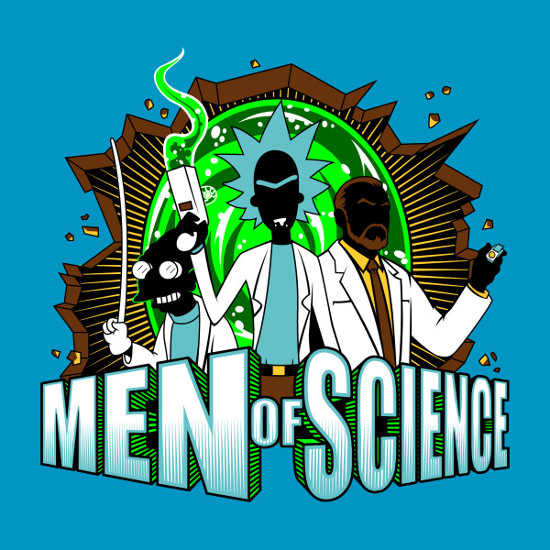 Men of Science Futurama Rick and Morty Archer Mashup T-Shirt