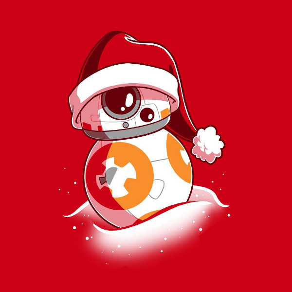 BB-8 Santa Hat Christmas Star Wars T-Shirt