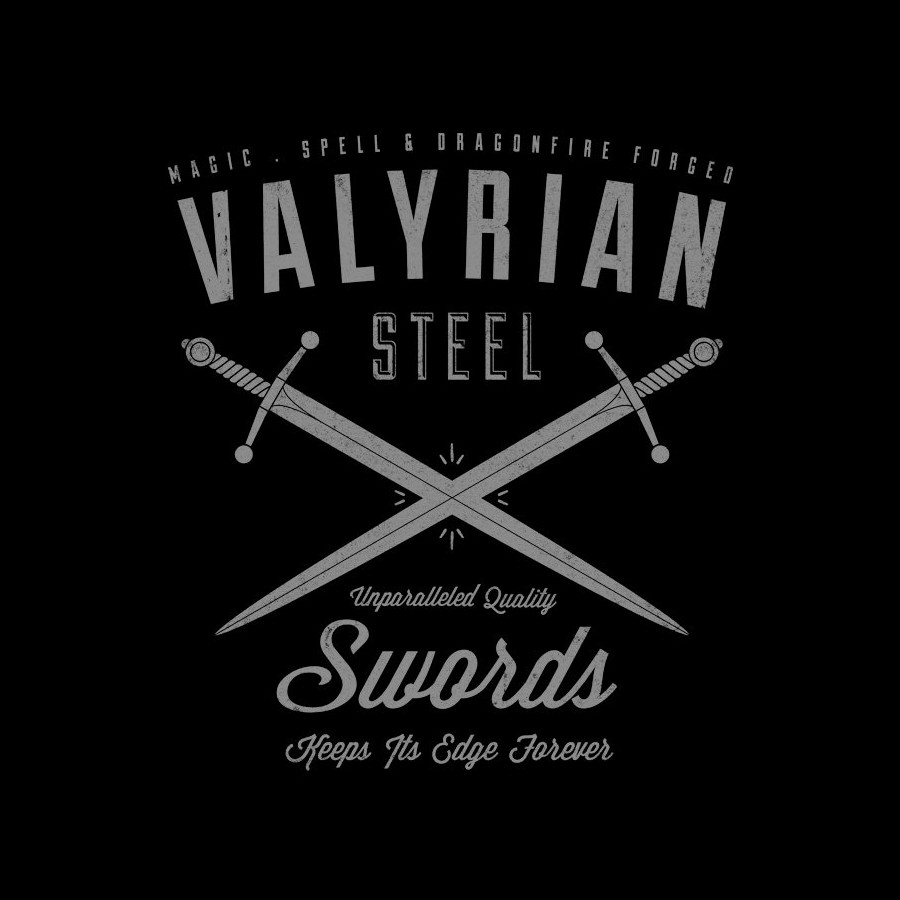Valyrian Steel Swords Game of Thrones T-Shirt